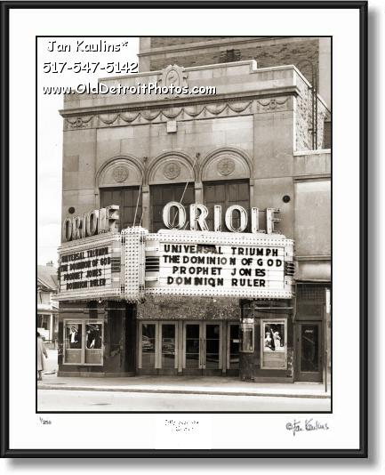 Click on this image to see an enlarged view of ORIOLE THEATER DETROIT photo picture print.