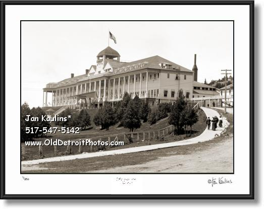 Click on this image to see an enlarged view of GRAND HOTEL MACKINAC old photo picture print.