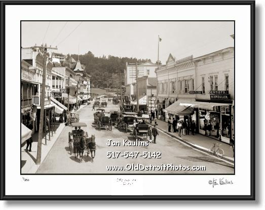 Click on this image to see an enlarged view of MACKINAC ISLAND 1905 old photo picture print.