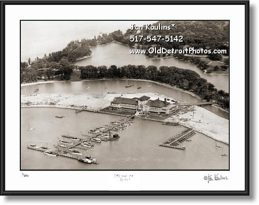 Click on this image to see an enlarged view of OLD DETROIT YACHT CLUB photo picture print.