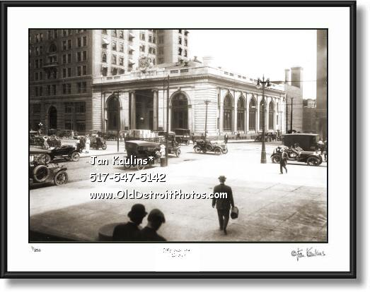 STATE SAVINGS BANK Detroit 1915 photo print