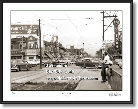 Highland Park MI 1954 RKO THEATER photo print