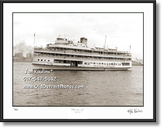 Click on this image to see an enlarged view of BOB LO BOAT STE CLAIRE Bob-Lo Boat photo print.