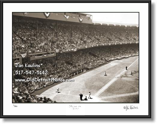 Click on this image to see an enlarged view of BRIGGS STADIUM photo print All Star Game 1941 .