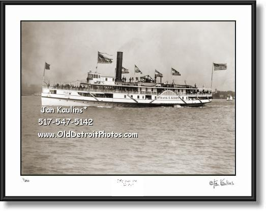 Click on this image to see an enlarged view of FRANK E. KIRBY Steamship Detroit photo picture .