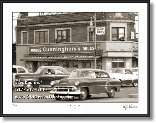 CUNNINGHAM'S Drugs Detroit photo picture print