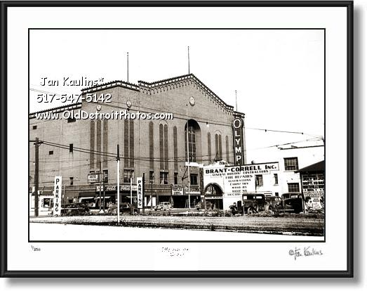 DETROIT OLYMPIA STADIUM 1947 photo picture